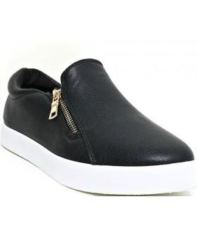 Слипоны Bu Le Mei кожаные черные