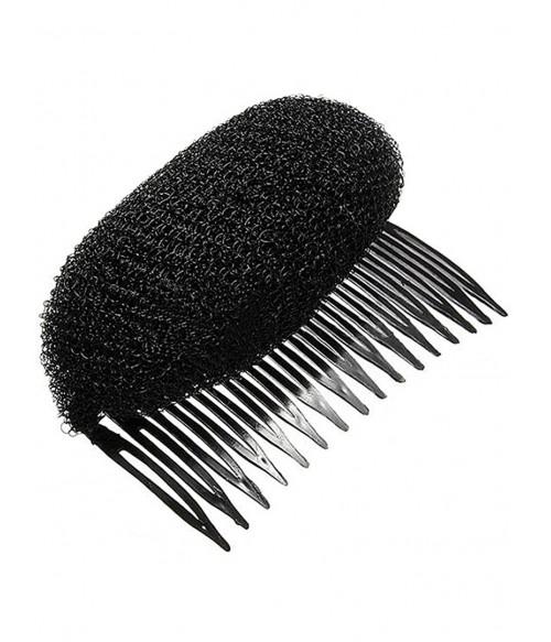 Гребешок для объема волос с валиком черный