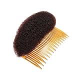 Гребешок для объема волос с валиком коричневый