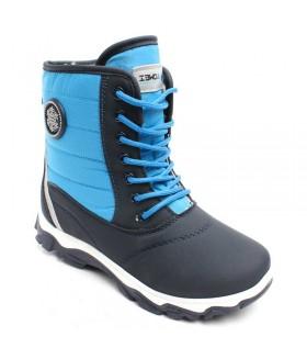 Детские ботинки для мальчиков AOWEI зимние черно-голубые