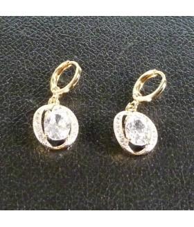 Серьги кольца конго позолоченные из медицинской стали