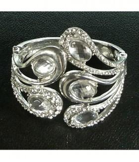 Браслет свадебный/элитный металлический серебристого цвета