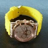 Часы женские MICHAEL KORS (Майкл Корс) с силиконовым лимонным ремешком