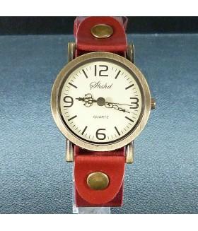 Часы женские винтажные Shshd с красным ремешком