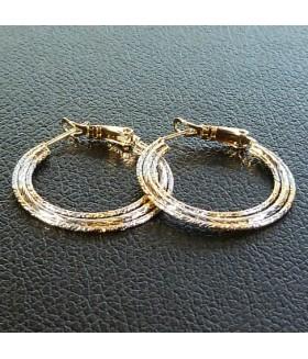 Серьги позолоченные кольца из медицинской стали 2,8 см