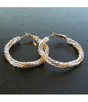 Серьги позолоченные кольца из медицинской стали 4 см