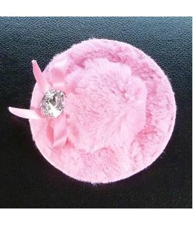 Заколка зажим для волос шляпка розового цвета