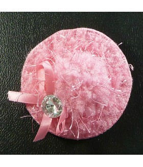 Заколка зажим для волос в виде шляпки розовая