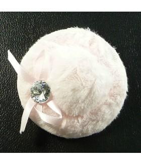 Заколка зажим для волос шляпка розовая