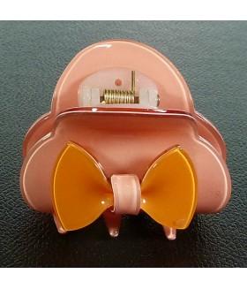 Краб для волос силиконовый розовый