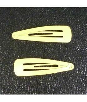 Заколка для волос желтая набор 2 штуки