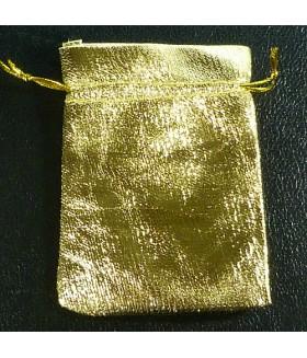 Мешок/мешочек подарочный закрытый 7х10 золотистый