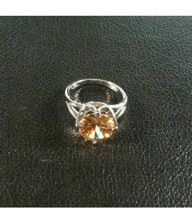 Кольцо из медицинской стали цирконием/цирконом