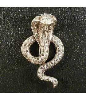 Брошь со стразами змея