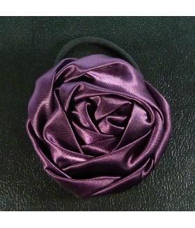 Резинка для волос с фиолетовым цветком