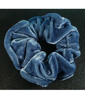 Резинка для волос большая бархатная голубая