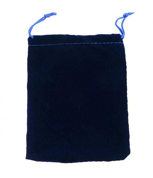 Мешок/мешочек подарочный бархатный 12х15 темно-синий