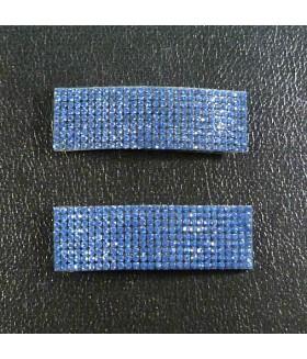 Заколка для волос широкая со стразами синяя набор 2 штуки