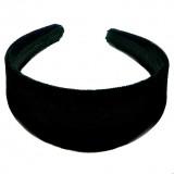 Ободок для волос широкий бархатный черный
