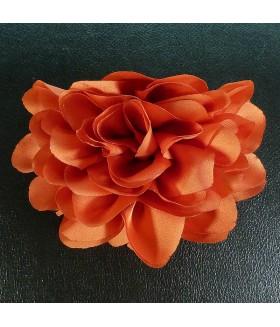 Краб для волос большой с цветком оранжевый