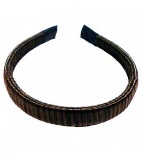 Ободок для волос из искусственных волос темно-коричневый