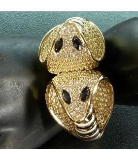 Браслет стильный металлический змейка золотистый