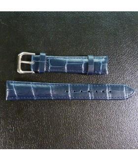 Ремешок для часов из натуральной кожи темно-синий