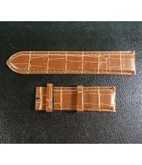 Ремешок для часов из кожи коричневый