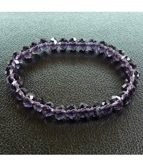 Браслет фиолетовый чешское стекло