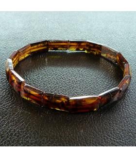 Браслет натуральный янтарь темно-коричневый