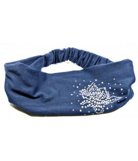 Бандана для волос синяя