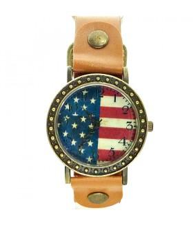 Часы Shshd с коричневым кожаным ремешком