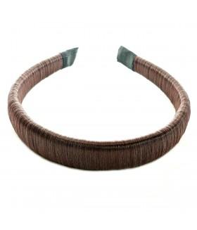 Ободок для волос из искусственных волос коричневый