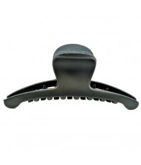 Краб для волос каучуковый черный матовый