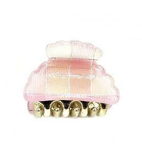 Крабик для волос маленький розовый