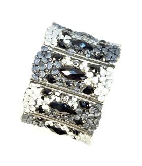 Браслет металлический черно-серебристый