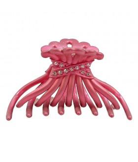 Краб для волос бордовый 8 см
