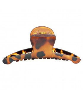 Краб для волос каучуковый коричневого цвета