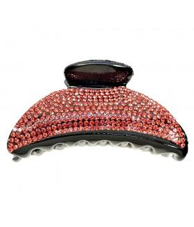 Краб для волос с красными вставками