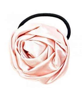 Резинка для волос с цветком розового цвета
