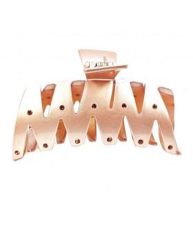 Краб для волос из силикона розовый