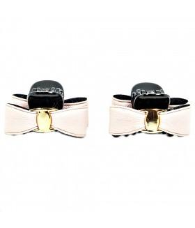 Крабик для волос черно-розовый набор 2 штуки