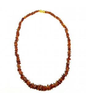 Бусы из натурального янтаря коричневые