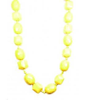 Бусы крупные желтого цвета