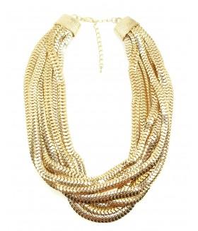 Колье/ожерелье из нескольких цепочек золотого цвета
