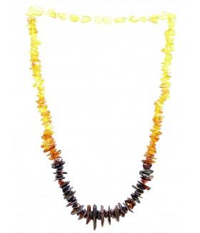 Бусы из натурального янтаря трехцветные