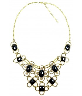 Колье/ожерелье с черными вставками