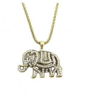 Подвеска крупная слоник на длинной цепочке
