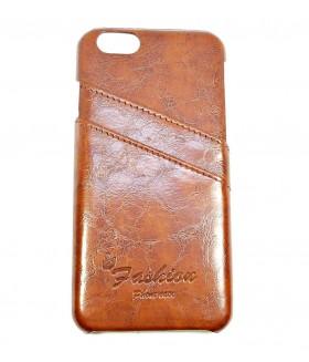 Чехол для iPhone (Айфон) 6/6s кожаный коричневый