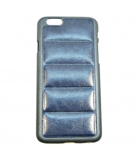 Чехол для iPhone (Айфон) 6/6s кожаный темно-синий